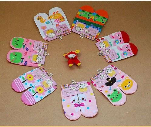 04278 Cute Japanese Children Puzzle Anti Slip Sock