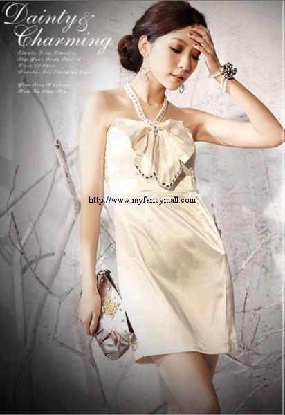 04733 Korean Silk Lace Dress Gown Evening Wear Glad rags Mess jack..