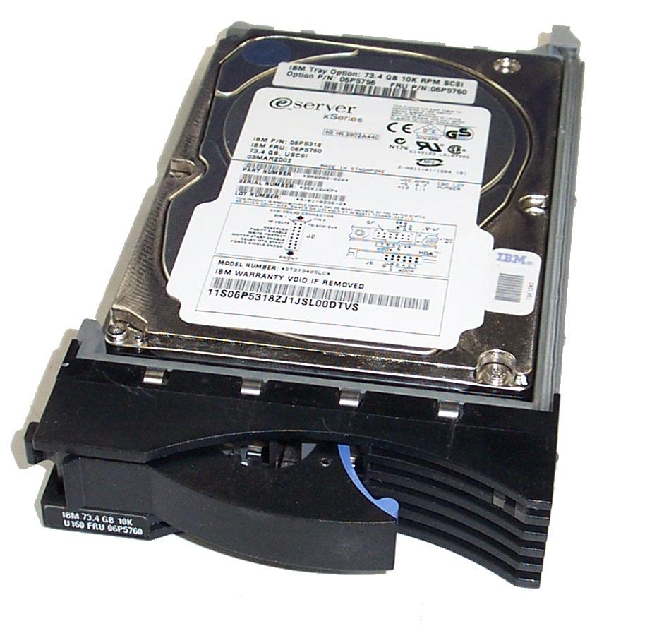 06P5760 - IBM 73.4GB 10K RPM U160 SCSI 3.5""