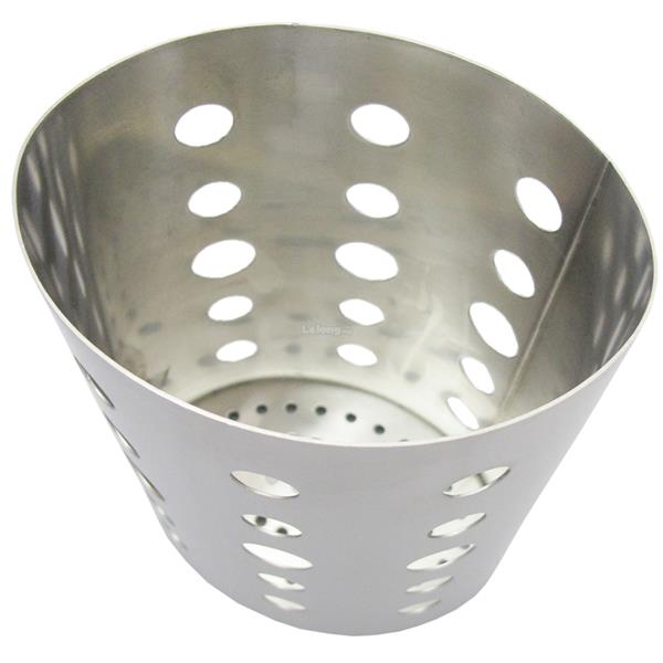 090043 Stainless Steel Oval Shape Chopstick Utensil Storage Holder