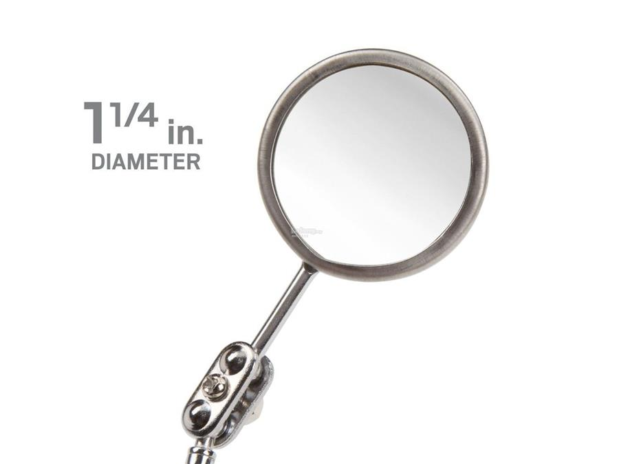 1-1/4 Inch Round Magnifying Mirror w/ Pocket Clip & Telescoping