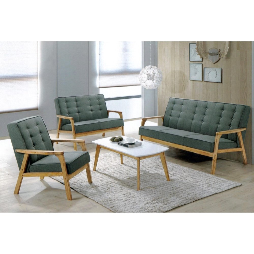 Wondrous 1 2 3 Fabric Sofa Set With Free Coffee Table Hall Sofa Lounge Chair Lamtechconsult Wood Chair Design Ideas Lamtechconsultcom