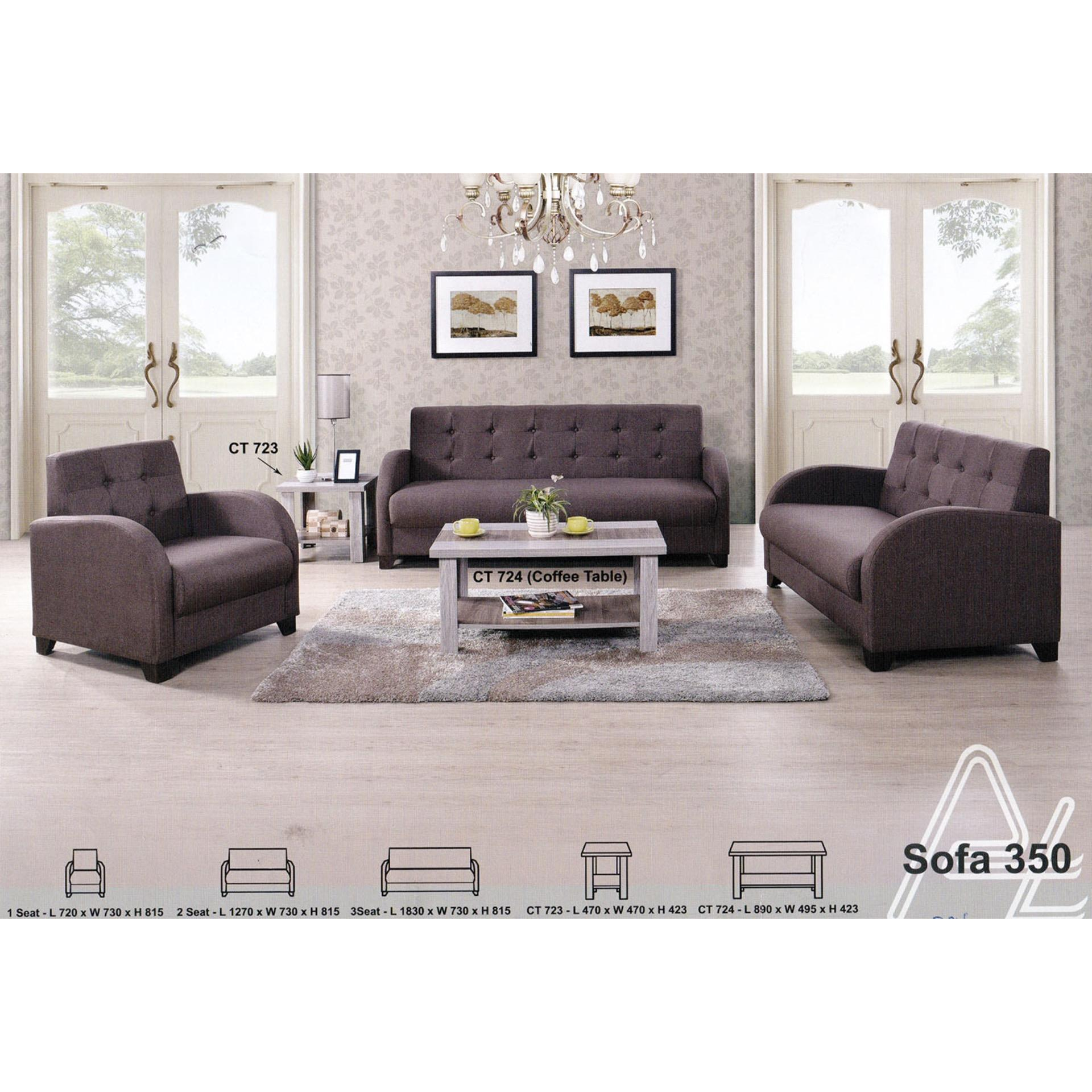 1+2+3 Seater Fabric Cushion Sofa/Lo (end 4/28/2021 12:00 AM