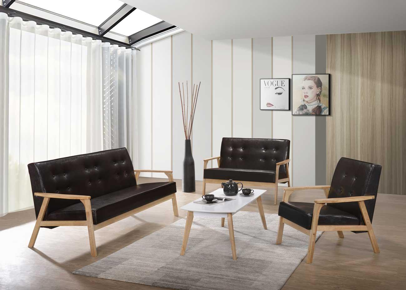 1+2+3 Seater Leather Sofa Set With (end 5/11/2022 12:00 AM)