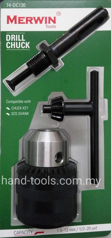 "1/2""DRILL CHUCK WITH SDS SHANK & CHUCK KEY 74-DC130"