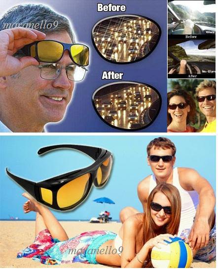 1 or 2 Units. Day / Night Driving HD Glasses for Your Safety