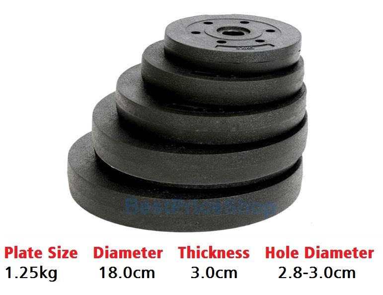 1.25kg High Grade Bumper Dumbbell Weight Plate Barbell Plates