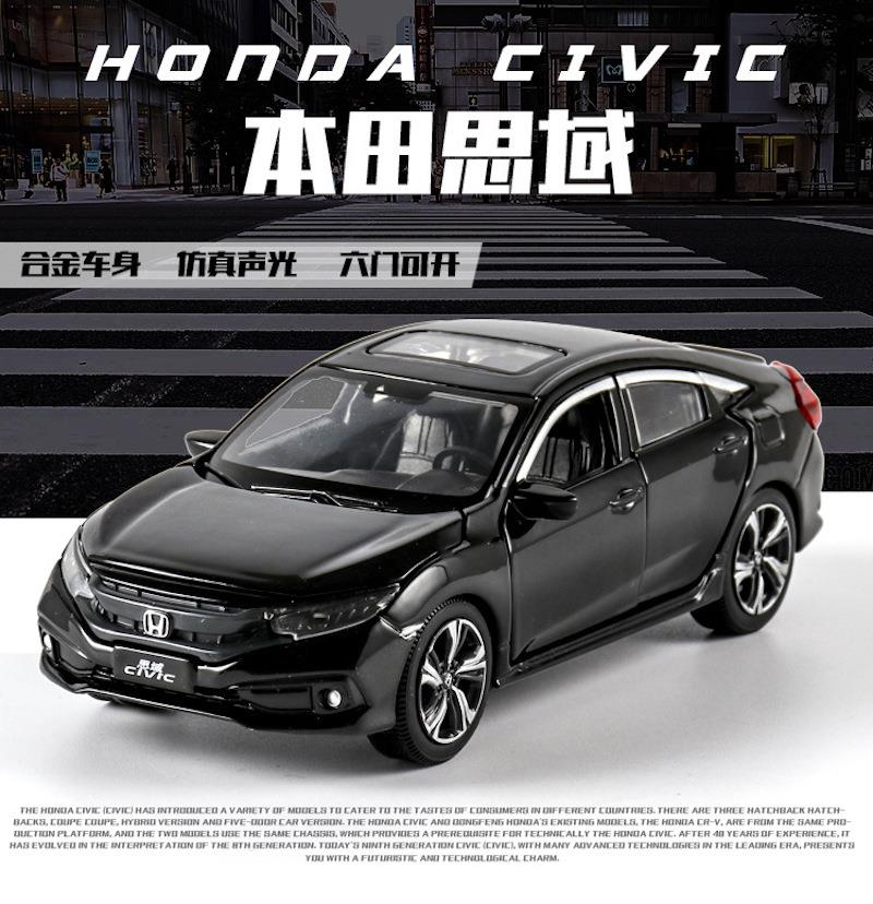 1/32 Scale 2019 HONDA CIVIC Simulation Toy Car Metal Diecasting Model