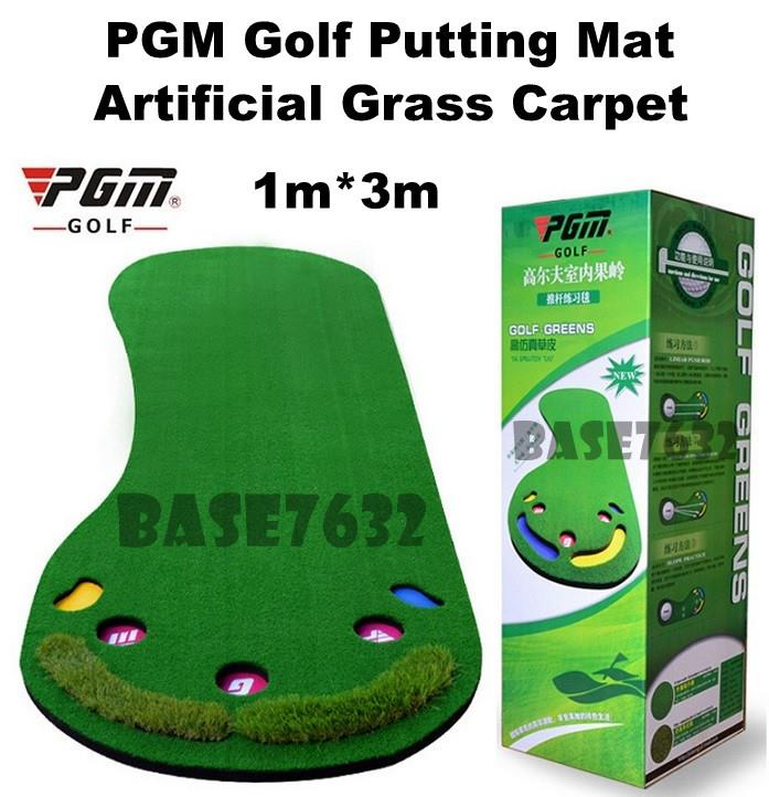 1*3M  PGM Indoor Golf Putting Mat Trainer Practice Training Grass Mat