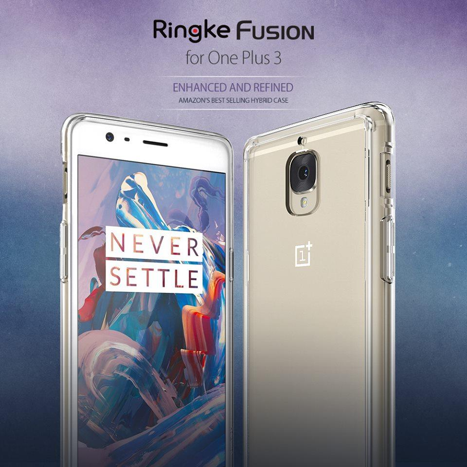 100% authentic 043f2 bab72 [1+3T] Ori Rearth Ringke Fusion Case for OnePlus 3 / OnePlus 3T