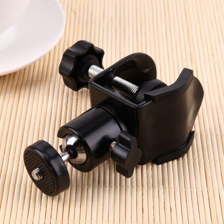 1/4' Screw Clamp Clip Ball Head Holder Stand Ball Head Mount Camera