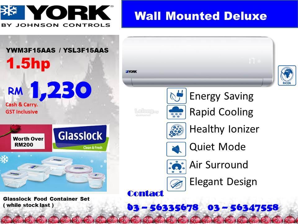 1 5hp York Air Conditioner Ywm3f15aas Ysl3f15