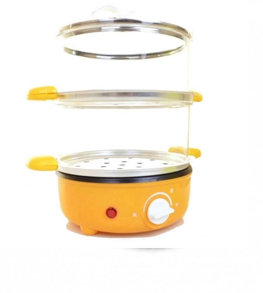 1.5L Double Layer Non-Stick Steamer and Stick Fry Pot