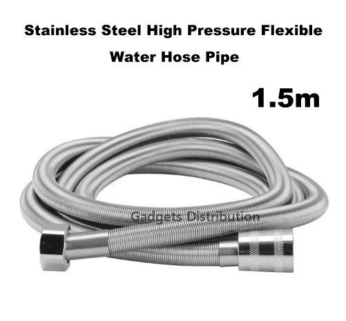 1.5m  Stainless Steel Flexible High Pressure Water Shower Hose Pipe