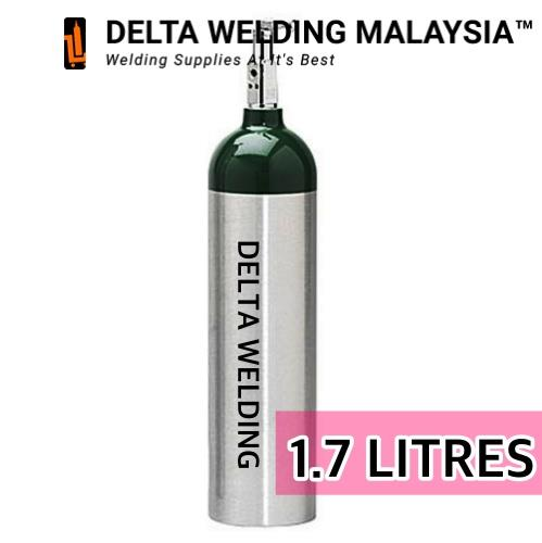 1 7 LITRES MEDICAL OXYGEN GAS TANK MALAYSIA ( WITHOUT ACCESSORIES)