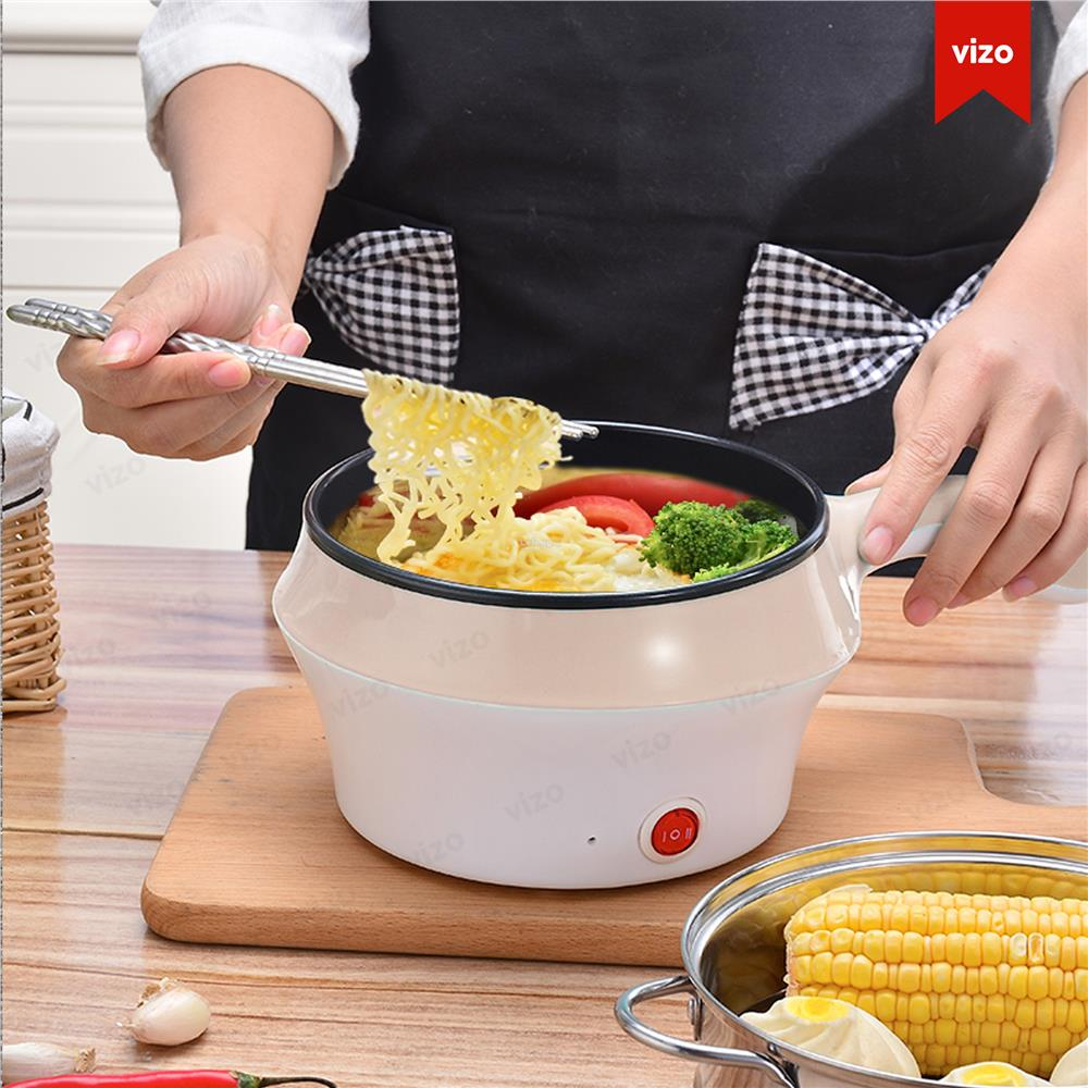 1.8L Multi-functional electric wok steamed egg plate pan non-stick pan