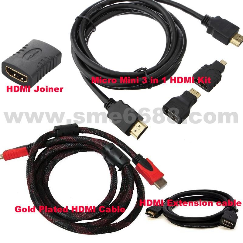 *1.8M 3M 5M HDMI Gold Plated HD 1080P Cable V1.4^Extension Converter
