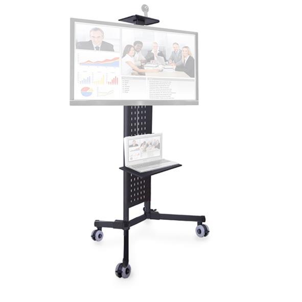 1.8M LP1800 Mobile TV Cart Workstation with Shelf LED Monitor Stand