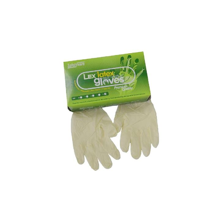 1 Box SAFETYWARE LEX Powder Free Latex Exam Gloves (Medical Grade)