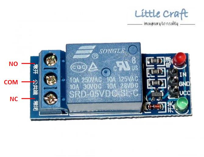 Channel v relay module for arduin end pm