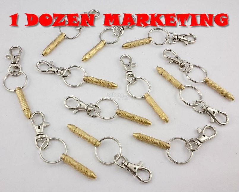 1 Dozen Copper Alloy Small Tools Key Ring Chain