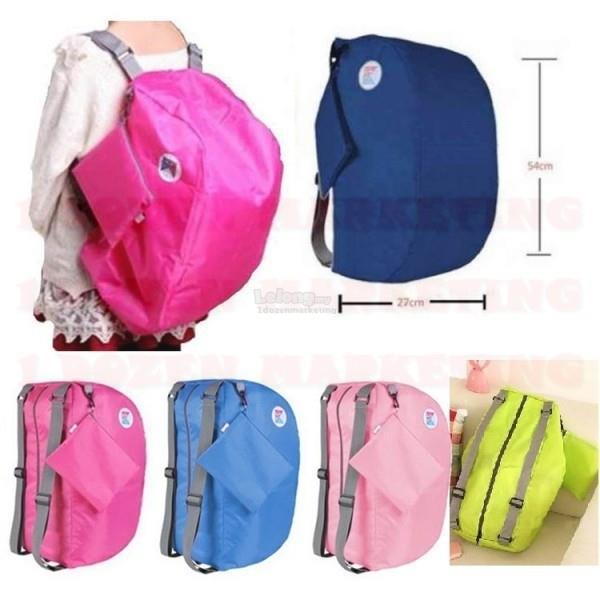 c3b8bf17cd3f 1 Dozen Iconic 3 way Bag Foldable Large Travel Backpack Shopping