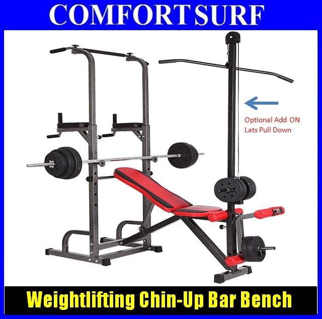 Lovely Weight Bench With Pull Up Bar Part - 4: All In 1 GYM Weightlifting Bench Chin-Up Pull Up Bar Sit Up Chair. U2039 U203a