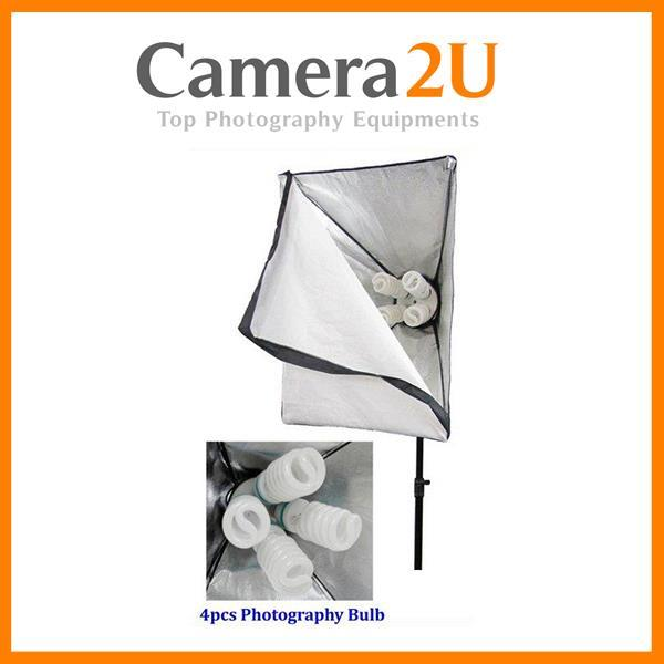 (1 pair) 4 Bulb Continuous Studio Light with Softbox and Stand
