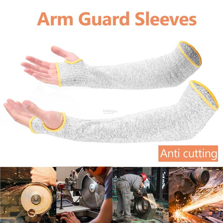 1 Pair Arm Guard Sleeves Cut Proof Armband Anti Cutting Protective