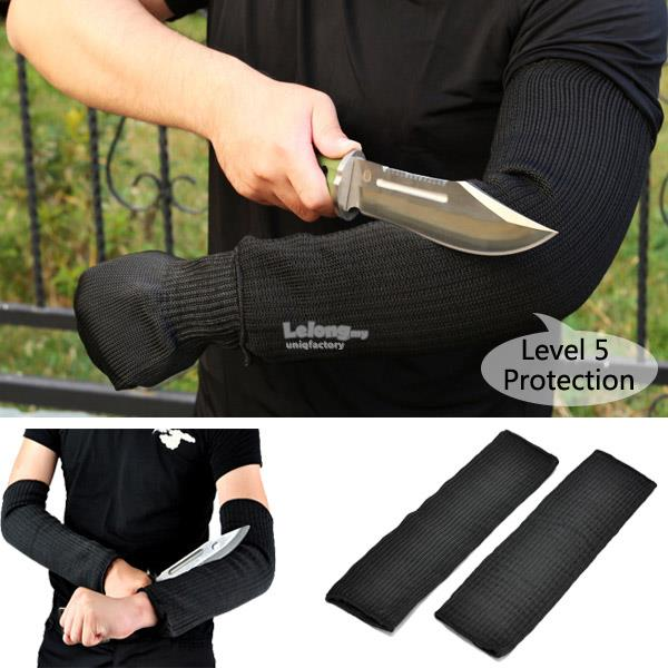 (1 Pair) Safety Anti Cut Arm Sleeves Shield Defence Resistant Protect
