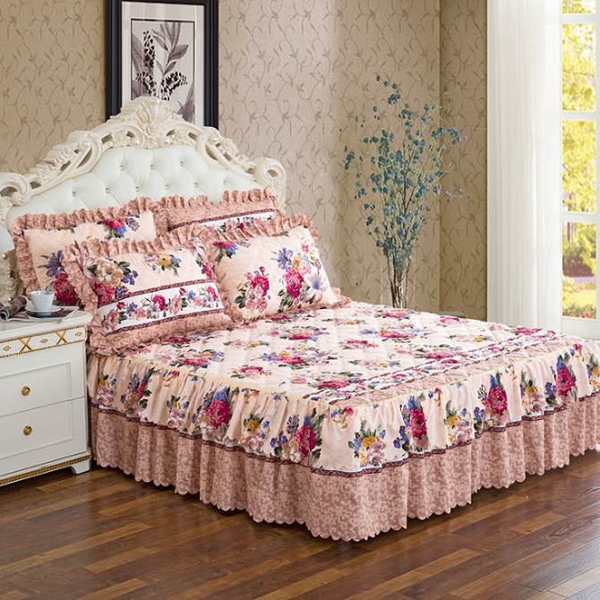 Bedspreads.1 Pc Cotton Bed Skirt Bedspreads Mattress Covers Bed Sheets Queen Size