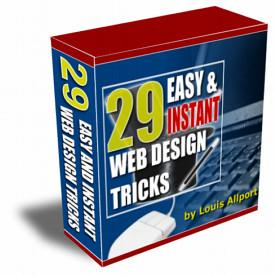 <B>1 pc ebook - 29 Web Design Tricks - Video</B>