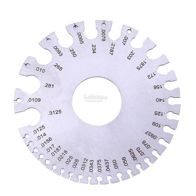 1 pc stainless steel gauges 0 36 ro end 11212018 815 am 1 pc stainless steel gauges 0 36 round awg swg wire thickness ruler ga greentooth Image collections