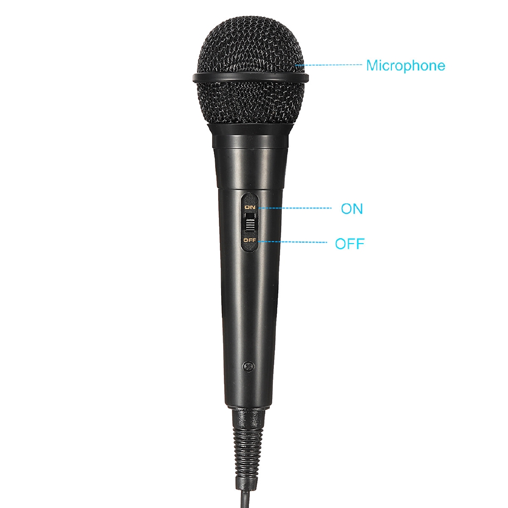 1 Piece 300cm Wired USB Microphone High Performance Karaoke Microphone