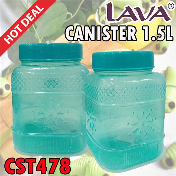 1 Piece Tupperware Kuih Raya Square LAVA Canister 1.5L CST478