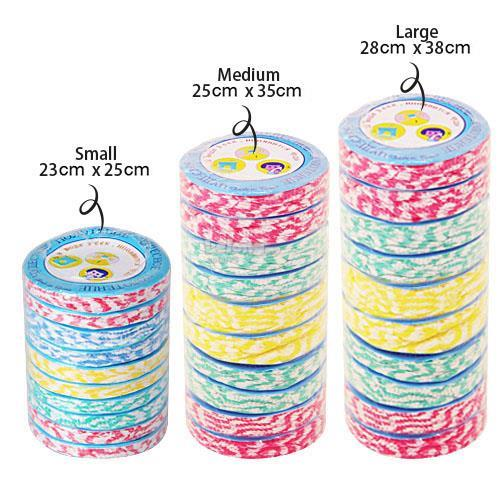 1 roll=10pcs Colorful Compressed Hand Towel Travel (Medium)