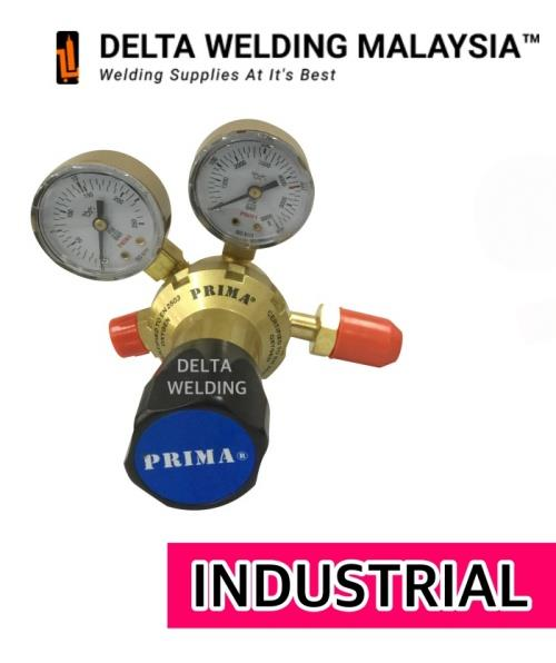 1 SET : INDUSTRIAL OXYGEN REGULATOR + 10 LITRE OXYGEN GAS