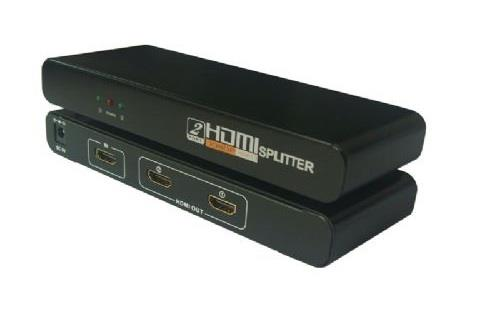 1 To 2 HDMI Splitter with 3pin Power Plug