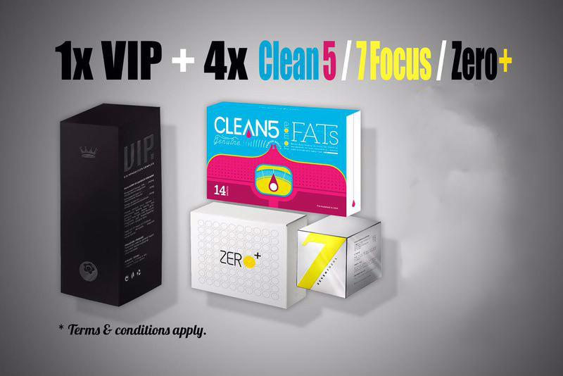 1(VIP Bio )+4( 7 Focus / Clean 5 / Zero Plus)