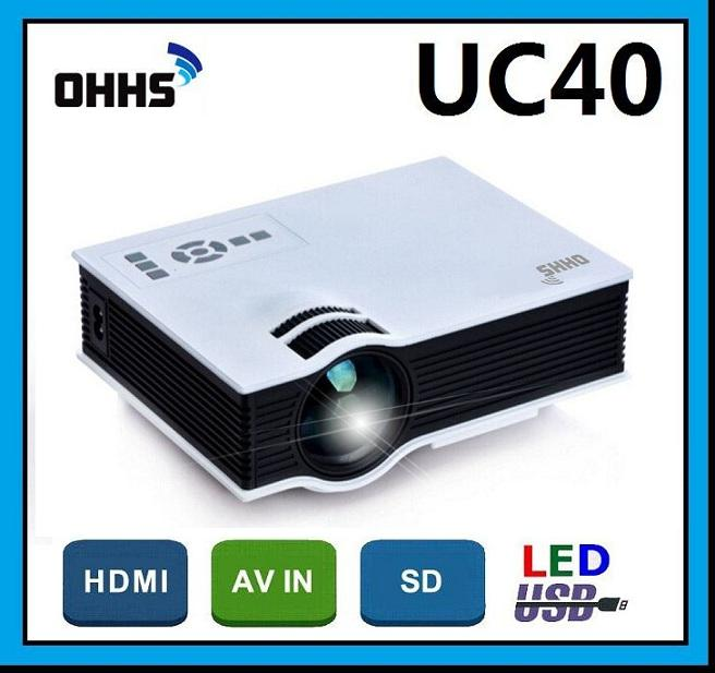 [ 1 Year Warranty ] OHHS UC40 HDMI USB Home Theater LED Mini Projector