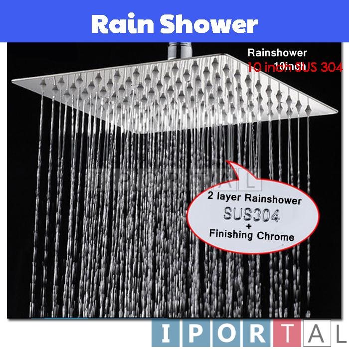 10 Inch Bathroom Stainless Steel Rain Shower Head Only(SUS304) 2 Layer
