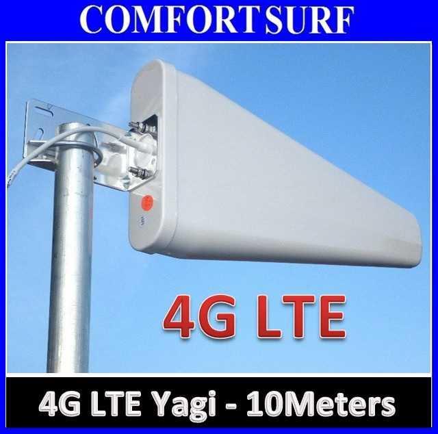 10 Meters 4G LTE UMTS 3G HSDPA Yagi Antenna 698 - 2700MHz, Gain 11dBi