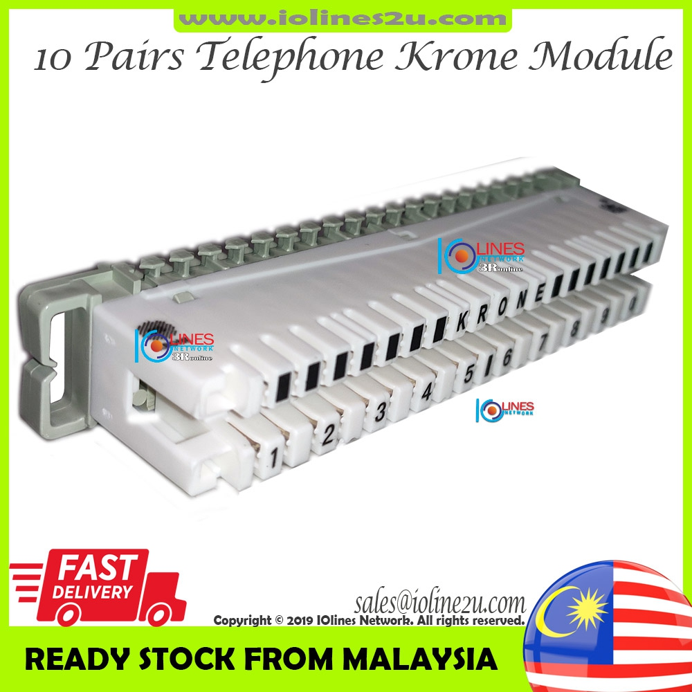 10 Pairs 10Pair Telephone Krone Type 110 DISCONNECTION MODULE