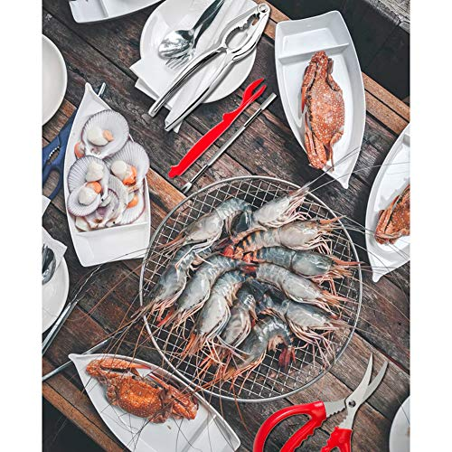10 Pcs Seafood Tools Set including 6 Forks and 2 Lobster Crackers Nut Cracker