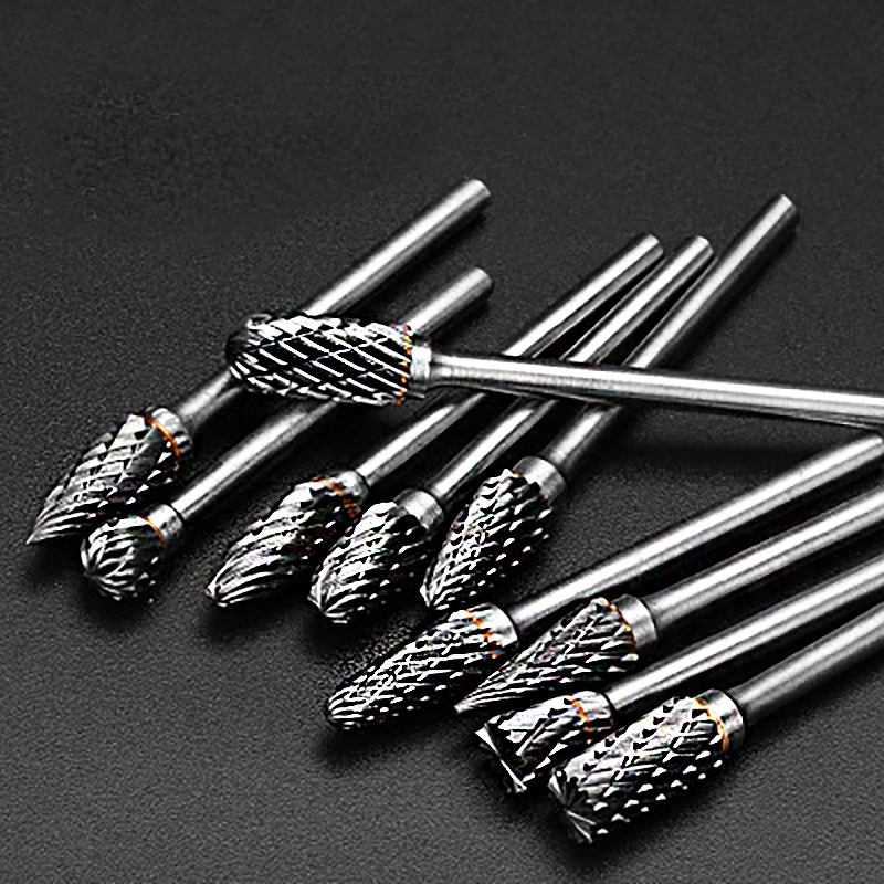 10 PIECE(s) Long Tungsten Carbide Burr 6x3mm Ma - [10PCS SINGLETRENCH]