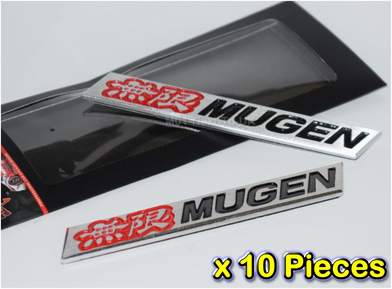 [10 PIECES][2274RB#34] MUGEN Red Black Badge Emblem HQ Aluminium Metal