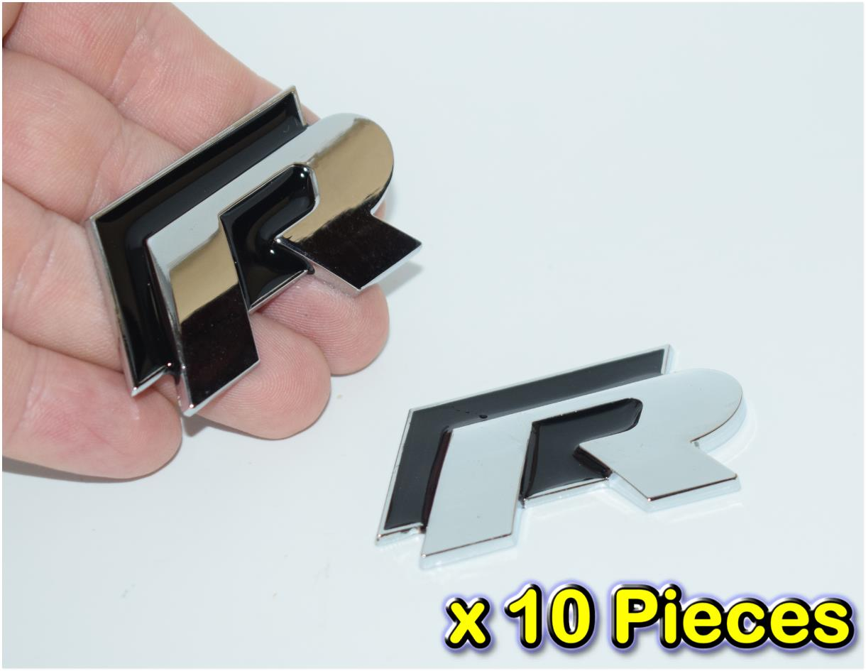 [10 PIECES][5205BK#64-513] R Line Black HQ Metal Trunk Badge Emblem Au
