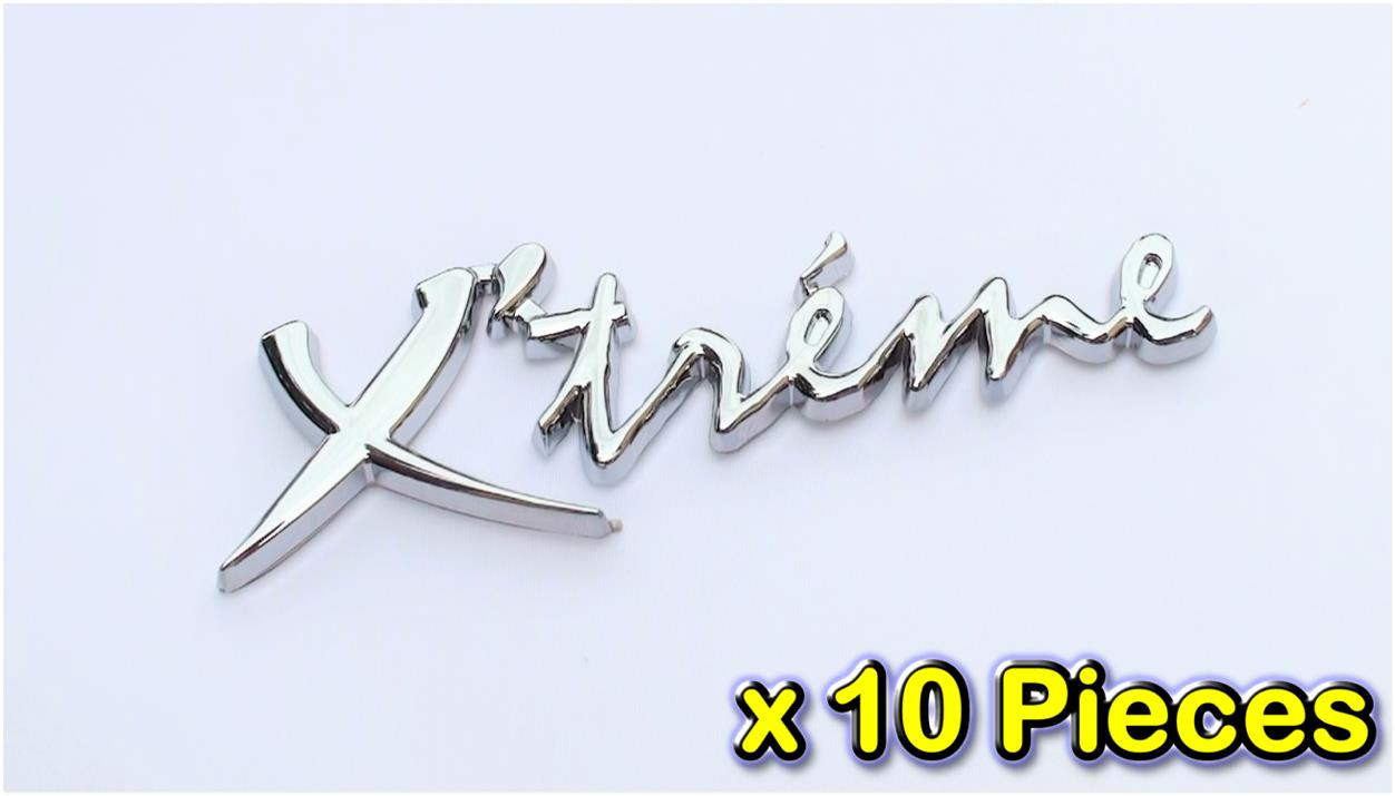 [10 PIECES][7082#11-13] Xtreme 3D Chrome Car Badge Decal Emblem Trunk