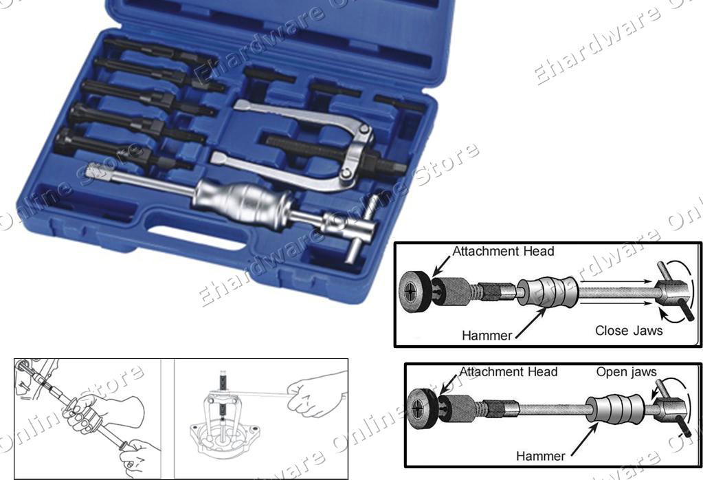 internal bearing puller. 10-pieces internal blind bearing puller with slide hammer set (4672) internal bearing puller