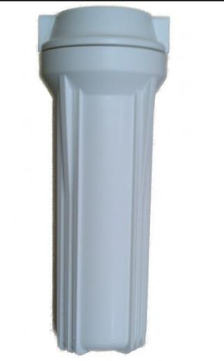 "10"" water pre-filter housing with 10 μm fiber filter"